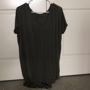 Long Army Green Brandy Melville Shirt